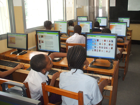 Students in a computer Class, St Florence Academy, Dar es Salaam Tanzania School